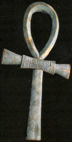 """The Ankh was an ancient Egyptian symbol of eternal life and immortality. The word ankh also means """"mirror"""" in the ancient Egyptian language, as in a mirror to the soul. At the top of the ankh shown, there wings of Isis and a solar disk w/cobras. 2 Cobras, representing the goddess of Lower Egypt, are across the bar. At the bottom, King Ankhnaton."""
