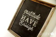 #Love this chalkboard art frame #tutorial. It'll be a great menu board!