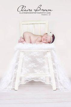 Newborn Headband-Baby Headband-Ivory Headband-Baby Girl-Toddler-Wedding-Flower Girl-Photo Prop