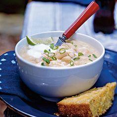Chili Recipes Under 300 Calories  | White Chili | MyRecipes.com