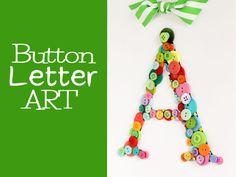 DIY Craft: Button Wall Hanger