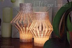 {#DIY paper lantern} This great #craft is an easy way to illuminate your home. We recommend #battery operated tea lights to keep this project safe.