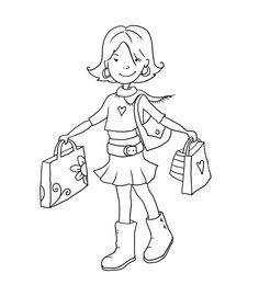 Love this one!  Digi Download - FREE SAMPLE - Lydia goes Shopping