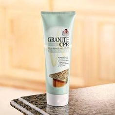 Granite CPR, Stone Countertop Cleaning and Polish Kit | Solutions. The best granite cleaner! I get this at TJMaxx and Tuesday Mornings