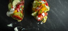 Avocado Toasts with Heirloom Tomatoes and Herbs