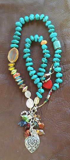 """MONTANA UNTAMED """"Big Sky 2"""" Necklace by Toni McCarthy  BEADS  &  THREADS"""
