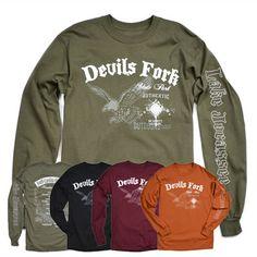 Get your very own Devils Fork State Park long sleeve t-shirt!  All proceeds support SC State Parks.  #devilsfork #scstateparks