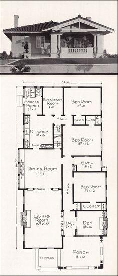 c. 1918 Stillwell House Plans - California Representative Homes - R-825