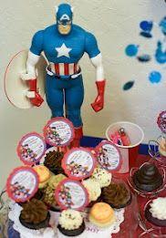 Cupcake toppers on mini-cupcakes, yum!