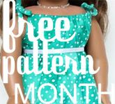 Free pattern month - doll clothes, sunhats, scrap skirts