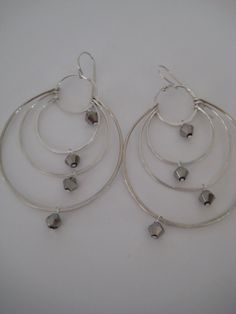 Silver Sparkling Hoops by 3tomatoes on Etsy, $95.00