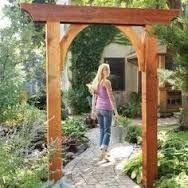 modern entrance garden trellis - Google Search