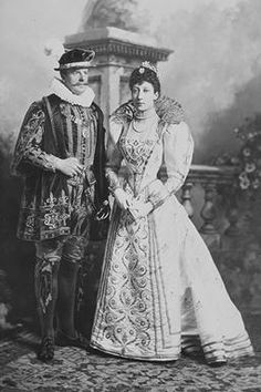 Duke & Duchess of Fife at the Devonshire House Ball 1897, by Lafayette  copyright V&A