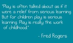 Yes! play is very serious. from cleveland homeschooler blog.