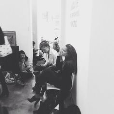 Models on duty. Casting call for #Amsale Spring 2015 runway show #bridalmarket #bridalweek