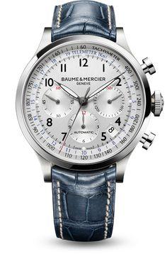 """Baume et Mercier's """"Capeland"""" 10063 Swiss automatic chronograph watch for men. #luxury"""