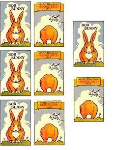 Print and make a Bob Bunny spool animal