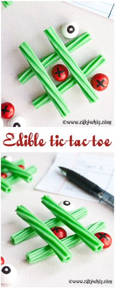 Play an EDIBLE game of TIC-TAC-TOE with little kiddos. Super fun and super easy! From cakewhiz.com
