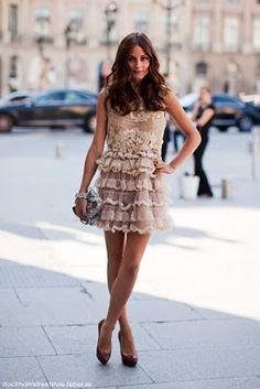 ruffles ruffl, dress fashion, the dress, sweet dress, style icons, olivia palermo, christian louboutin, lace dresses, haute couture