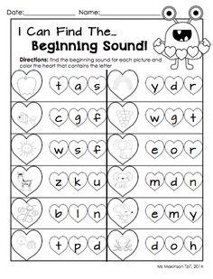 sound worksheet, beginning sounds worksheets