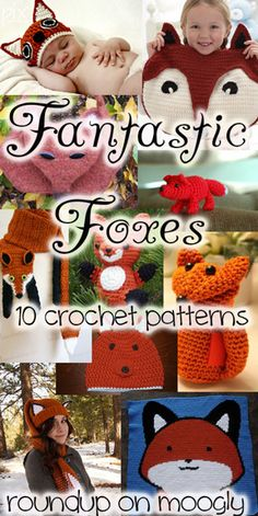 Fantastic Crochet Fox Patterns - a collection of 10 great patterns, all available now! Get links to each of these patterns at mooglyblog.com! #crochet #fox fox amigurumi, craft, fox crochet pattern, knit, foxes, fox crochet free, crochet fox pattern, fox pattern free, fantast crochet