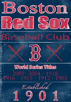 Boston Red Sox Vintage Wall Art Banner