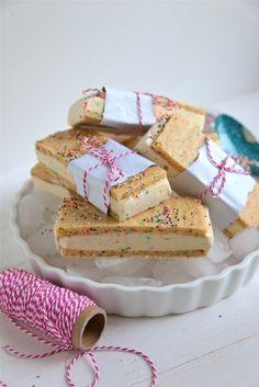 Homemade Birthday Cake Ice Cream Sandwiches