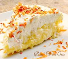 The Best Homemade Coconut Cream Pie you'll ever eat! This pie is absolute coconut heaven. It's the best coconut cream pie that will ever cross your lips , PERIOD.