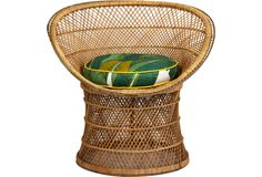 Rattan Chair - One Kings Lane - Vintage & Market Finds - Furniture#lifeinstyle #greenwithenvy