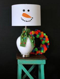 DIY Snowman Lamp