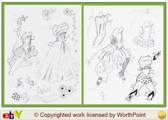 Ann Miller paper doll clothes, singer and dancer / worthpoint.com