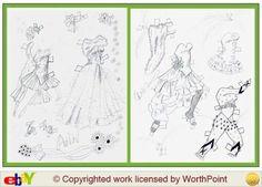 doll cloth, singer paper, paper dollsblack, miller paper
