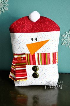 Reusable Snowman Gift Bag Tutorial
