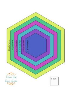 from the blue chair: Tutorial--Cutting Accurate Hexagons without a Template