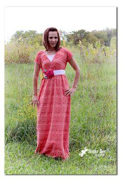 Sugar Bee Crafts: Ruffled Maxi Dress Tutorial
