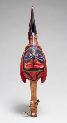 Raven Rattle, 19th century  British Columbia; Tsimshian  Wood, pigment