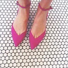 pink flat, shoe