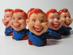 6 Vintage Howdy Doody Heads by borahstyle on Etsy, $18.00