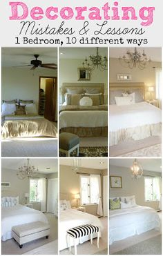 DIY:: Decor !  1 Bedroom, 10 different ways ! Excellent Post ! Tips , Ideas, & Tutorials ! And she is always excellent, on teaching you how to be your own DIY..Interior Decorator , on a very frugal Budget ! BY @Virginia Kraljevic Kraljevic Kraljevic Kraljevic Kraljevic Kraljevic Kraljevic Kraljevic Kraljevic Kraljevic (LiveLoveDIY)