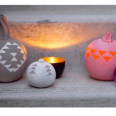 DIY Geo pumpkins up on happymundane.com #halloween