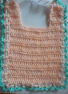 Free Crochet Pattern: Easy Baby Bib in Cotton Thread babi bib, baby