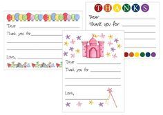 Printable Thank You Notes for Kids