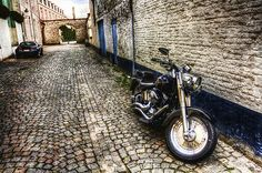 Harley Davidson in Bruges, Belgium #HDNaughtyList
