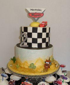 disney pixar cars cakes | Disney Pixar Cars 2 Cake and Cupcakes — Children's Birthday Cakes