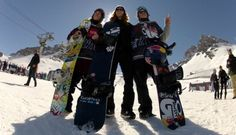 Four of GoPro's athletes claimed 6 medals in Winter X Games' 12 Europe. Seen here are Tom Wallisch , Shaun White & Eric Willet