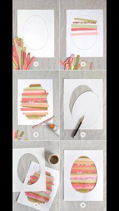 Strips to fill egg shape.