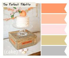 {cake}: peach tones, antique gold + gray http://www.theperfectpalette.com/2011/10/color-palette-requests-whats-yours.html