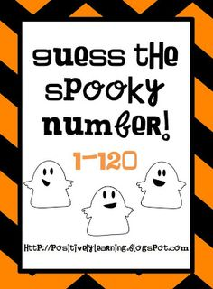 Classroom Freebies: Guess the Spooky Number!