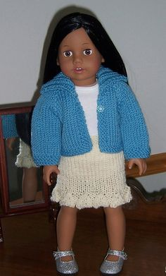 """Ravelry: Straight Skirt for 18"""" Doll pattern by Janice Helge"""