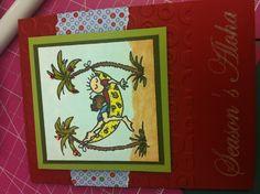 Hawaiian themes Christmas card